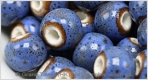Porcelain Beads - Blue