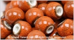 Porcelain Beads - Orange/Red