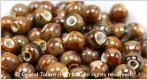 Porcelain Beads - Brown/Yellow