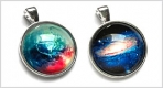 Glass Cabochon Pendants