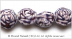 Porcelain Beads - Purple/Pink