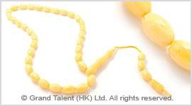 Beige Islamic Baltic Amber Prayer Beads