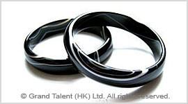 Black Striped Onyx Bangle