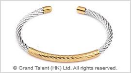 Titanium Stainless Steel Wire Rope Hook Bracelet