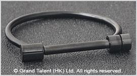 Titanium Stainless Steel D-shape Bar Screw Bangle