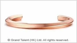 Titanium Stainless Steel Twist Open Bangle