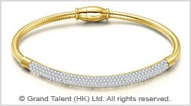 Titanium Stainless Steel Wire Rope Crystal Bracelet