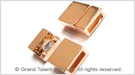 Alloy leather cord magnetic clasp
