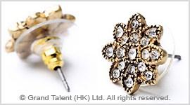 CZ Flower Stud Earrings