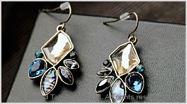 Crystal Abalone Hook Earrings