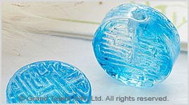 Glass Carved Small Coin
