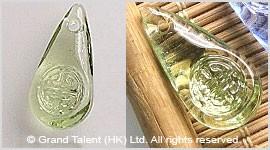 Glass Carved Teardrop