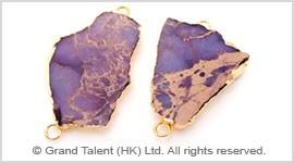 Purple Impression Jasper Pendant