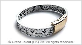 PU Snakeskin Leather Bracelet