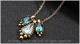 Crystal Drop Chain Necklace