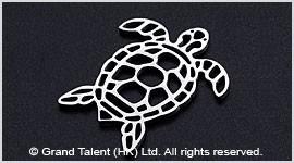Origami Sea Turtle Stainless Steel Charm
