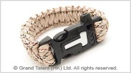 Men's Style Multi Tan Paracord Survival Bracelet