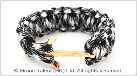 Black & White Paracord Survival Bracelet