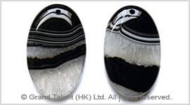 Black Quartz Agate Pendant