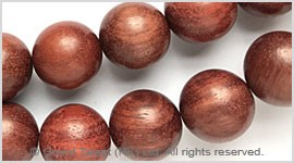 Natural Zambia African Blood Red Sandalwood Bead