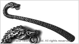 Brass alloy metal bookmark