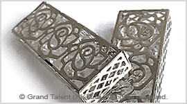 Cuboid Cage Crystal Diamond Pendant Charm