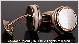 Mother of Pearl Brass Designer Cufflinks