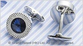 Sapphire Crystal Brass Designer Cufflinks