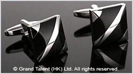 Black Onyx Brass Designer Cufflinks