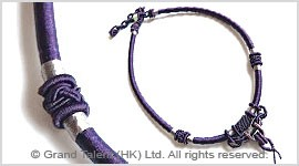 Dark Purple Chinese Knot String Cord Necklace Choker