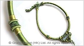 Green Chinese Knot String Cord Necklace Choker