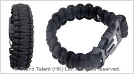 Men's Style Black Paracord Survival Bracelet