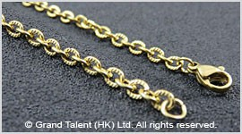 Textured Stainless Steel Chain