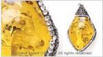 Yellow Amber Resin Crystals Pendant