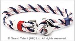 Nautical Anchor Double Rope Bracelet