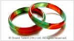 Multi-color Agate Bangle