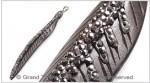 Bovine Bone Crystals Feather Pendant