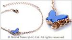 Blue Butterfly Charm Chain Bracelet
