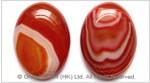 Red Striped Agate Cabochon