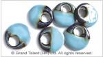 Blue Ceramic Porcelain Donuts