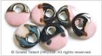 Pink Ceramic Porcelain Donuts