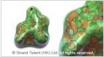 Green Mosaic Turquoise Pendant