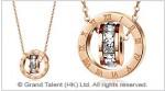 Titanium Steel Eternal Engraved Roman Numerals Crystal Circles Necklace