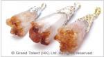 Citrine Druzy Crystal Pendant