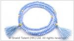 Stretchy tassel wrap crystal bracelet