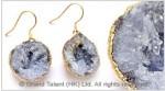 Dark Grey Druzy Earrings