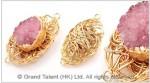 Fuchsia Druzy Agate Pendant