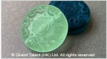 Glass Carved Coin