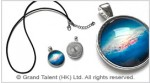 Galaxy Universe Glass Cabochon Pendant Necklace