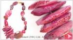 Multi Fuchsia Agate Necklace